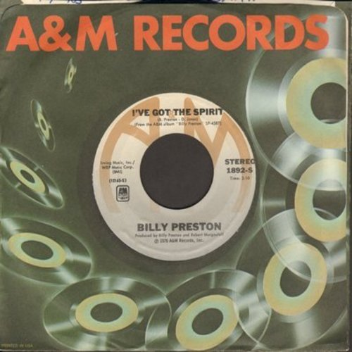 Preston, Billy - I've Got The Spirit/Do What You Want (with A&M company sleeve) - M10/ - 45 rpm Records