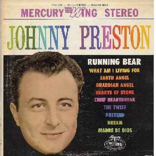 Preston, Johnny - Johnny Preston: Running Bear, What Am I Living For, Earth Angel, The Twist, Pretend, Guardian Angel (Vinyl STEREO LP record, early 1960s second pressing) - NM9/VG6 - LP Records