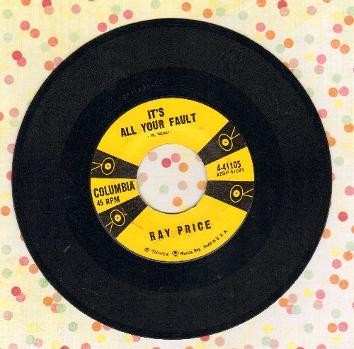 Price, Ray - It's All Your Fault/Curtain In The Window - EX8/ - 45 rpm Records