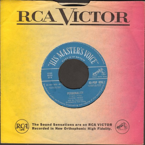 Price, Lloyd - Personality/Have You Ever Had The Blues (British Pressing with RCA company sleeve) - EX8/ - 45 rpm Records