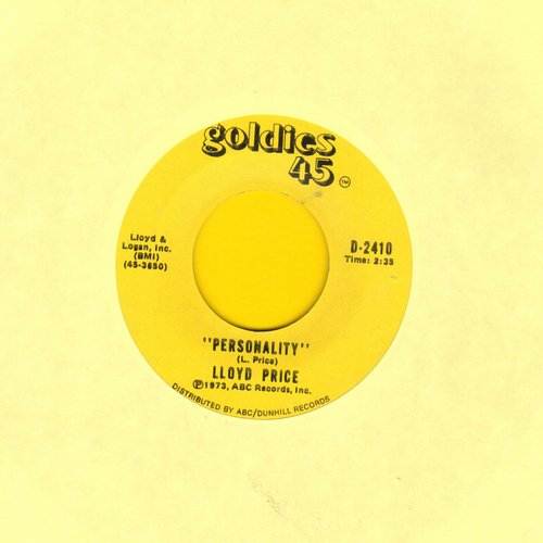 Price, Lloyd - Personality/Stagger Lee (1970s double-hit re-issue of vintage recordings) - VG7/ - 45 rpm Records