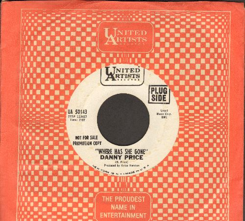 Price, Danny - Where Has She Gone/Sharon (DJ advance pressing with vintage United Artists company sleeve) - NM9/ - 45 rpm Records