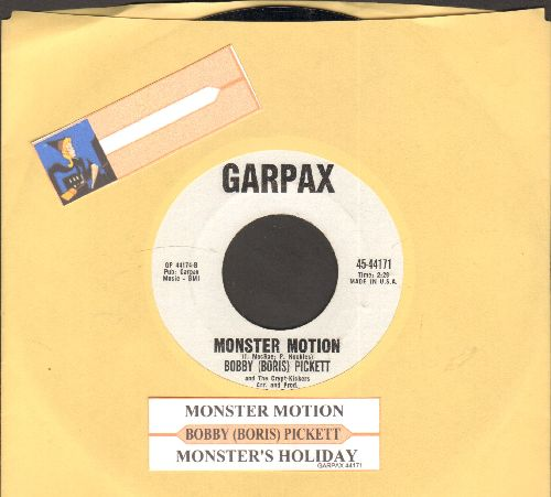 Pickett, Bobby (Boris) - Monsters' Holiday/Monster Motion (RARE follow-up to novelty hit Monster Mash, NICE condition!) - NM9/ - 45 rpm Records