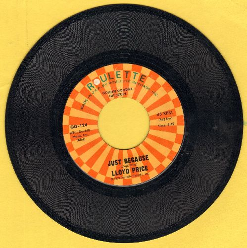 Price, Lloyd - Just Because/I'm Gonna Get Married (authentic-looking re-issue) - EX8/ - 45 rpm Records
