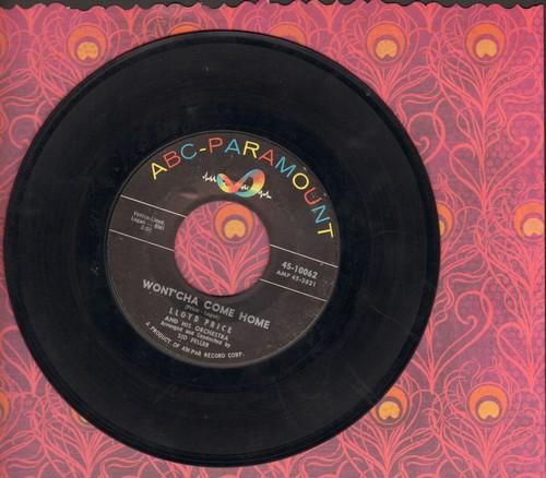 Price, Lloyd - Wont'Cha Come Home/Come Into My Heart - EX8/ - 45 rpm Records