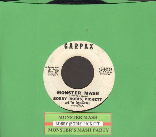 Pickett, Bobby (Boris) - Monster Mash/Monster's Mash Party (White Garpax Label first issue with juke box label) - EX8/ - 45 rpm Records