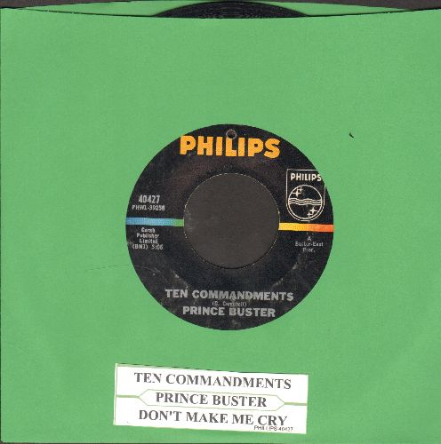 Prince Buster - Ten Commandments/Don't Make Me Cry (with juke box label) (bb) - VG7/ - 45 rpm Records