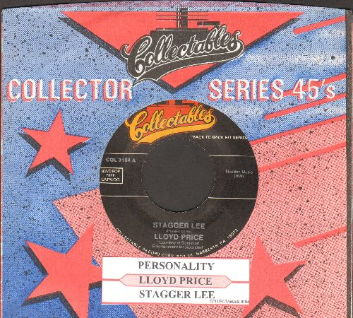 Price, Lloyd - Personality/Stagger Lee (re-issue of vintage recordings with juke box label and company sleeve) - NM9/ - 45 rpm Records