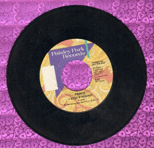 Prince - I Wish You Heaven (double-A-sided DJ advance pressing) - NM9/ - 45 rpm Records