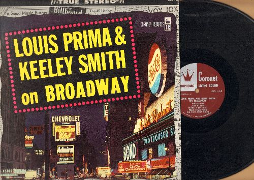 Prima, Louis & Keely Smith - Louis Prima & Keely Smith on Broadway: C'Mon 'A My House, Angelina, Dig That Crazy Chick, Brooklyn Boogie  (Vinyl STEREO LP record) - EX8/EX8 - LP Records