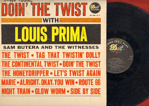 Prima, Louis - Doin' The Twist With Louis Prima: The Twist, Let's Twist Again, Route 66, Tag That Twistin' Dolly, The Continental Twist (Vinyl MONO LP record) - EX8/VG7 - LP Records