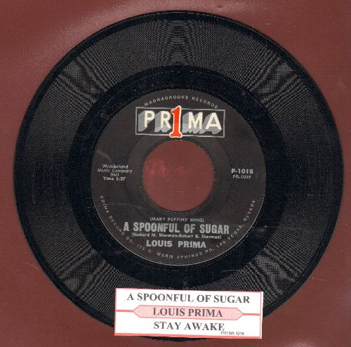 Prima, Louis - A Spoonful Of Sugar/Stay Awake (with juke box label) - NM9/ - 45 rpm Records