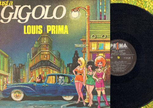 Prima, Louis - Just A Gigolo: Illya Darling, Cecelia, Judy, Margie, Caladonia, Hello Dolly, Sugar (vinyl STEREO LP record, with PERSONALIZED AUTOGRAPH