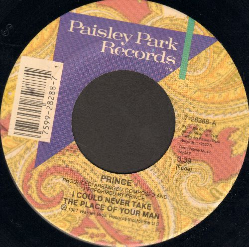 Prince - I Could Never Take The Place Of Your Man/Hot Thing - EX8/ - 45 rpm Records