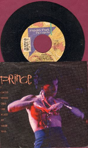 Prince - I Could Never Take The Place Of Your Man/Hot Thing (with picture sleeve) - EX8/EX8 - 45 rpm Records