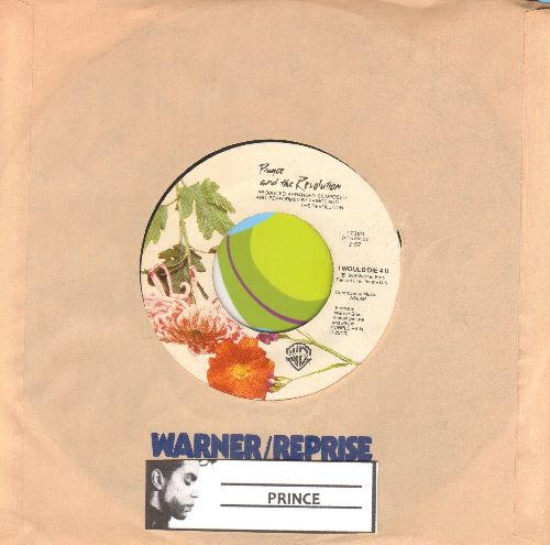 Prince - I Would Die 4 You/Another Lonely Christmas (with Warner Brothers sleeve) - NM9/ - 45 rpm Records