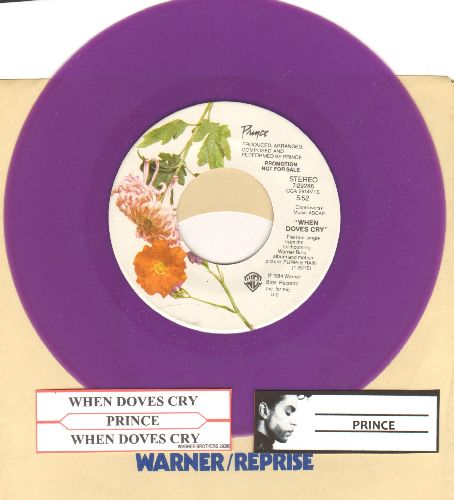 Prince - When Doves Cry/17 Days (RARE purple vinyl with Warner Brothers company sleeve and juke box label) - NM9/ - 45 rpm Records