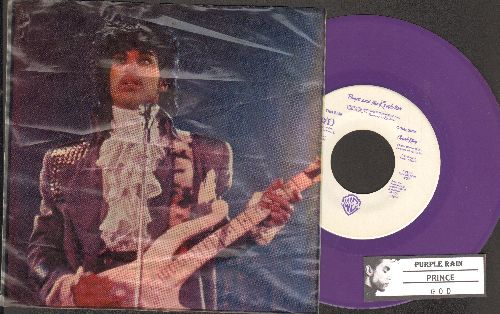 Prince - Purple Rain/GOD (RARE purple vinyl with transparent picture sleeve and juke box label!) - NM9/EX8 - 45 rpm Records
