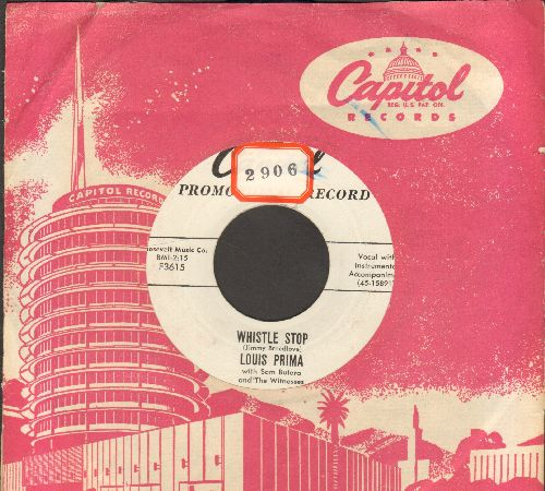 Prima, Louis - Whistle Stop/Be Mine (DJ advance pressing with vintage Capitol company sleeve, sol) - EX8/ - 45 rpm Records