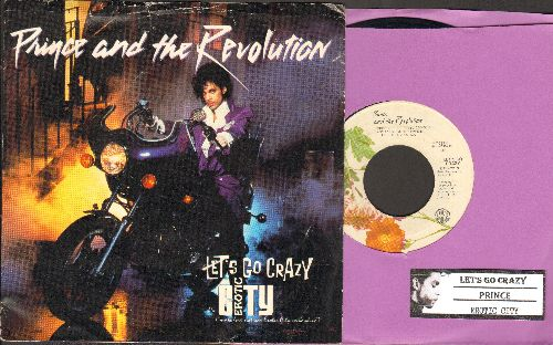 Prince - Let's Go Crazy/Erotic City (with picture sleeve and juke box label) - VG7/VG7 - 45 rpm Records