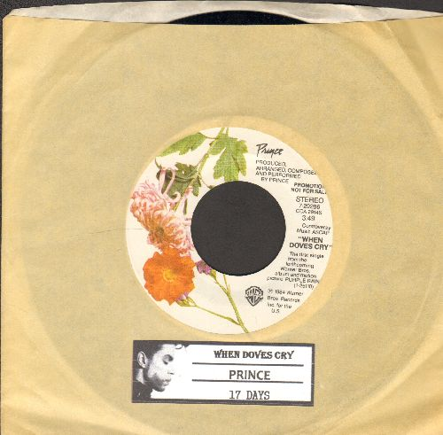 Prince - When Doves Cry/17 Days (with Warner Brothers company sleeve and juke box label) - NM9/ - 45 rpm Records