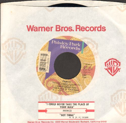 Prince - I Could Never Take The Place Of Your Man/Hot Thing (with juke box label and Warner Brothers company sleeve) - EX8/ - 45 rpm Records