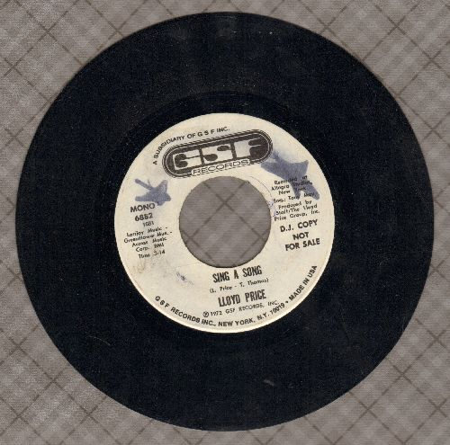 Price, Lloyd - Sing A Song (double-A-sided DJ advance pressing) - EX8/ - 45 rpm Records