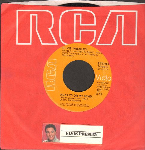 Presley, Elvis - Always On My Mind/Separate Ways (first pressing with RCA company sleeve) - VG7/ - 45 rpm Records