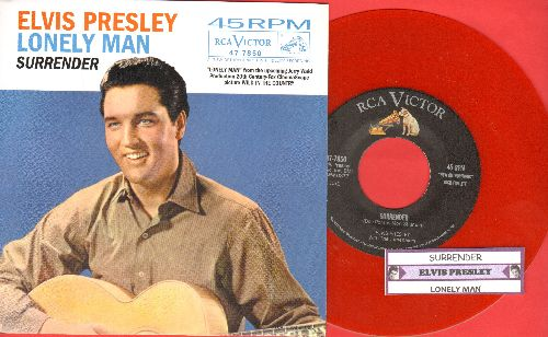 Presley, Elvis - Surrender/Lonely Man  (Red Vinyl re-issue with picture sleeve and juke box label) - NM9/NM9 - 45 rpm Records