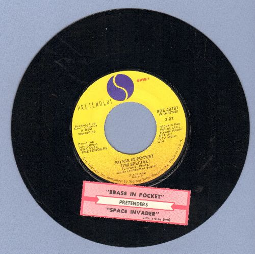 Pretenders - Brass In Pocket (I'm Special)/Space Invader (with juke box label) - EX8/ - 45 rpm Records
