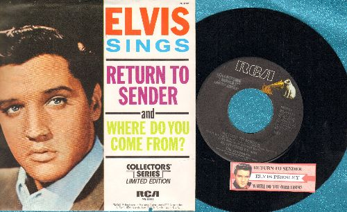 Presley, Elvis - Return To Sender/Where Do You Come From (re-issue with juke box label and picture sleeve) - EX8/VG7 - 45 rpm Records