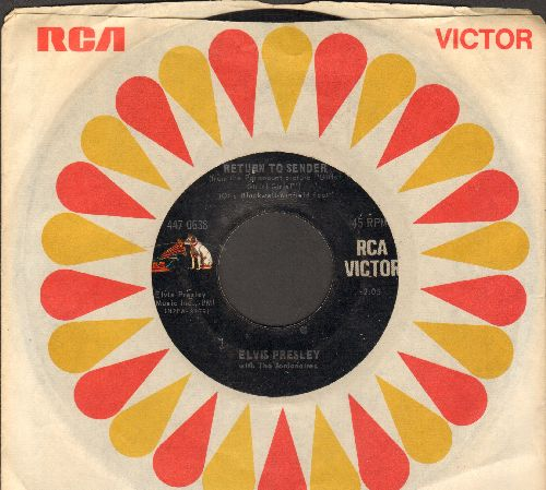 Presley, Elvis - Return To Sender/Where Do You Come From (with RCA company sleeve) - VG7/ - 45 rpm Records