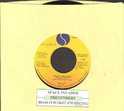 Pretenders - Brass In Pocket (I'm Special)/Space Invader (with juke box label) - VG7/ - 45 rpm Records