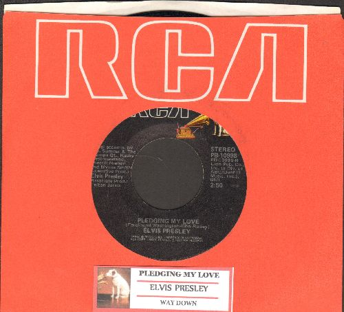 Presley, Elvis - Pledging My Love/Way Down (with juke box label and RCA company sleeve) - NM9/ - 45 rpm Records