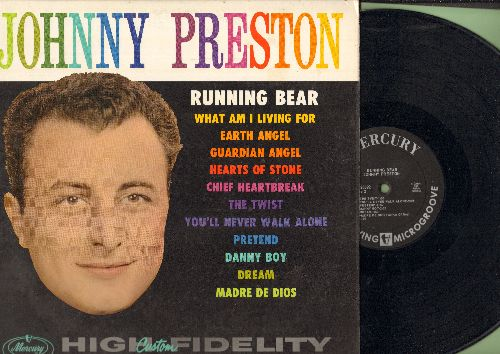 Preston, Johnny - Johnny Preston: Running Bear, What Am I Living For, Earth Angel, The Twist, Pretend, Guardian Angel (Vinyl MONO LP record, first issue, NICE condition!) - NM9/NM9 - LP Records