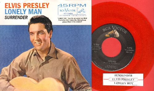 Presley, Elvis - Surrender/Lonely Man (with picture sleeve and juke box label) - NM9/NM9 - 45 rpm Records