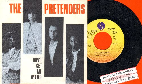 Pretenders - Don't Get Me Wrong/Dance! (with picture sleeve and juke box label) - NM9/NM9 - 45 rpm Records