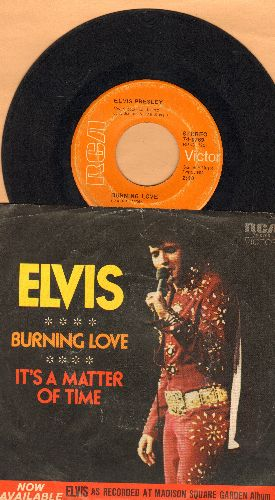 Presley, Elvis - Burning Love/It's A Matter Of Time (with picture sleeve) - EX8/EX8 - 45 rpm Records