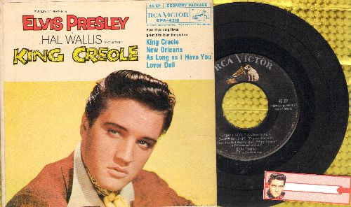 Presley, Elvis - King Creole/New Orleans/Lover Doll/As Long As I Have You (vinyl EP record with picture cover) - VG7/VG7 - 45 rpm Records