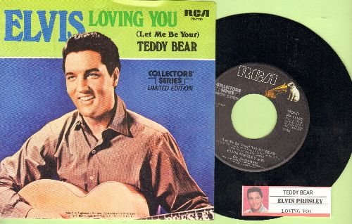Presley, Elvis - Teddy Bear/Loving You (re-issue with juke box label and picture sleeve) - NM9/NM9 - 45 rpm Records