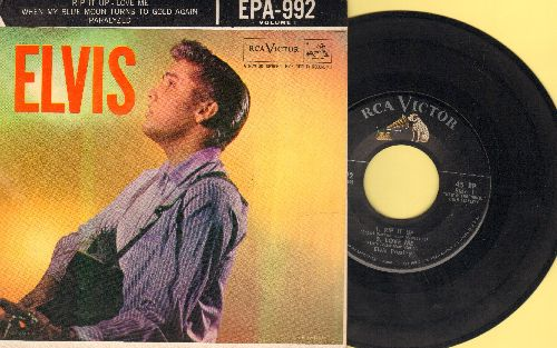 Presley, Elvis - Rip It Up/Love Me/When My Blue Moon Turns To Gold Again/Paralyzed (vinyl EP record with picture cover) - VG7/EX8 - 45 rpm Records