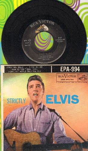 Presley, Elvis - Srictly Elvis: Long Tall Sally/First In Line/How Do You Think I Feel/How's The World Treating You (vinyl EP record and picture cover) - VG7/NM9 - 45 rpm Records