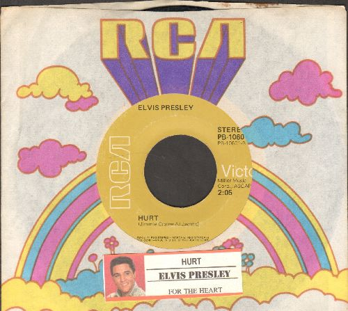 Presley, Elvis - Hurt (FANTASTIC cover of Timi Yuro Hit!)/For The Heart (with juke box label and RCA company sleeve) - VG7/ - 45 rpm Records