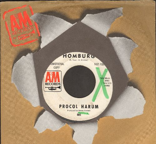Procol Harum - Homburg/Good Captain Clack (DJ advance pressing with A&M company sleeve) (wol) - EX8/ - 45 rpm Records