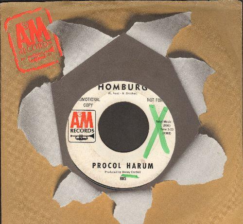 Procol Harum - Homburg/Good Captain Clack (DJ advance pressing with A&M company sleeve) (wol) - EX8/ - 45 rpm Records