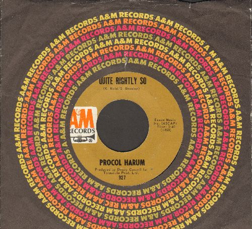 Procol Harum - In The Wee Small Hours Of Sixpence/Quite Rightly So (with A&M company sleeve) - EX8/ - 45 rpm Records