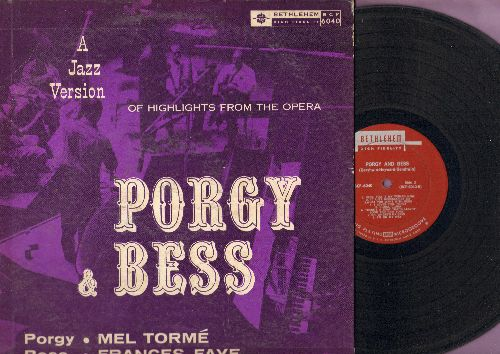 Torme, Mel, Frances Faye - Porgy & Bess - A Jazz Version of Highlights from the Opera, starring Mel Torme and Frances Faye (Vinyl MONO LP record) - VG7/VG6 - LP Records