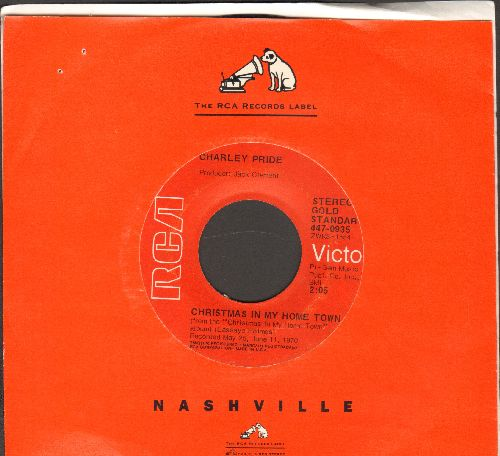 Pride, Charley - Christmas In My Home Town/Santa And The Kids (early re-issue with RCA company sleeve) - NM9/ - 45 rpm Records