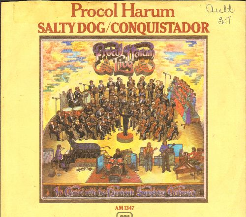 Procol Harum - A Salty Dog/Conquistador (with picture sleeve) - EX8/EX8 - 45 rpm Records