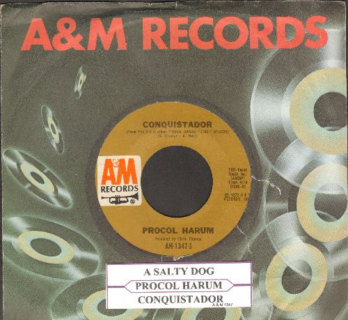 Procol Harum - A Salty Dog/Conquistador (with juke box label and company sleeve) - EX8/ - 45 rpm Records
